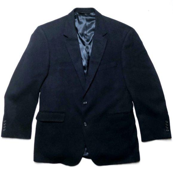 JOS A BANK Other - JOS A BANK Men's Camel Hair Navy Blazer Jacket 41R